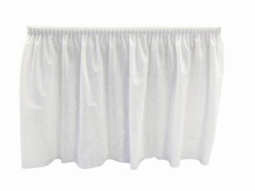 White Poly-Nylon Tableskirt