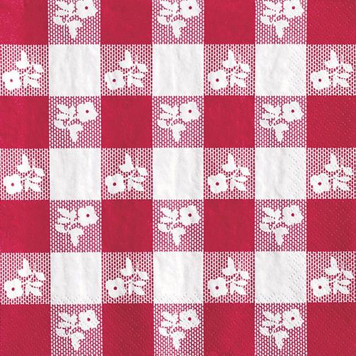 Red Gingham Paper Luncheon Napkins - Bulk