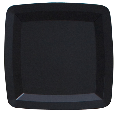 Black Square Plastic Serving Trays - 16 Inches