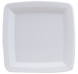 White Square Plastic Serving Trays - 16 Inches