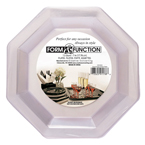 Clear Octagon Plastic Dinner Plates