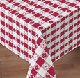 Red Gingham Plastic Lined Paper Tablecloths – 54 x 108 Inches
