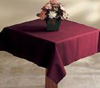 Burgundy Linen Like Tablecloths - 50 x 54 Inch