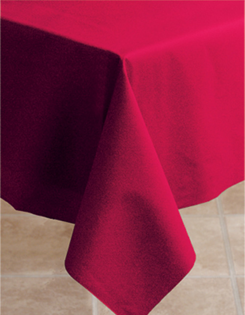 Red Linen Like Tablecloths - 50 x 54 Inch