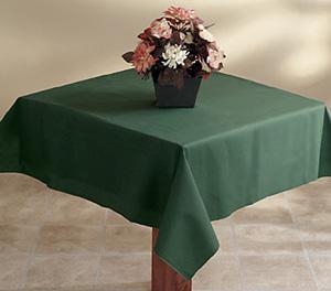 Hunter Green Linen Like Tablecloths - 50 x 54 Inch