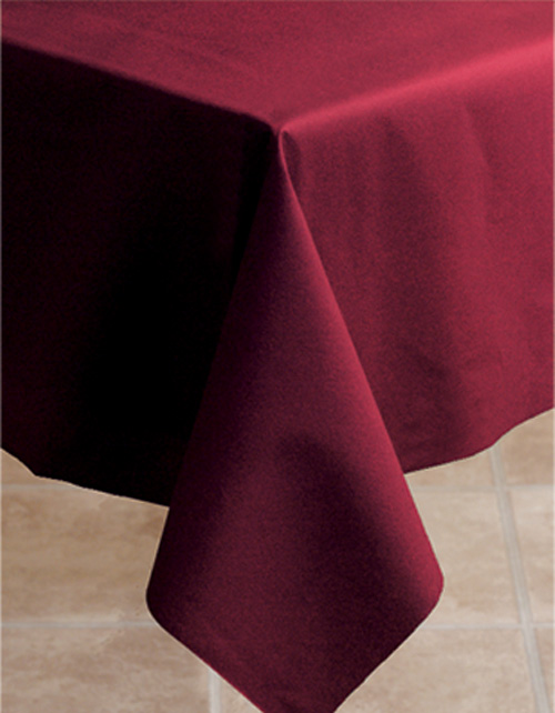 Burgundy Linen Like Paper Banquet Table Covers - 20 Count