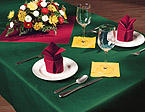 Hunter Green Linen Like Paper Banquet Table Covers - 20 Count