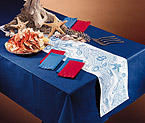 Navy Blue Linen Like Paper Banquet Table Covers - 20 Count