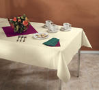 Ivory Linen Like Paper Banquet Table Covers - 20 Count