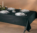 Black Linen Like Paper Banquet Table Covers  - 20 Count