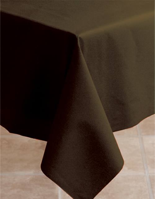Chocolate Brown Linen Like Banquet Table Covers - 20 Count