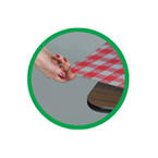 Round Red Gingham PlasticTablecloths with Elastic - 60 Inches | My Paper Shop