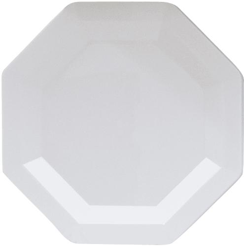 White Octagon Plastic Dinner Plates