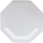 White Octagon Plastic Dinner Plates