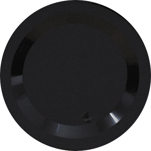 Black Round Plastic Dessert Plates - Heavyweight