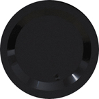 Black Round Plastic Dinner Plates - Heavyweight
