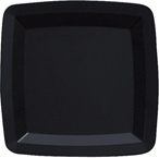 Black Square Plastic Dinner Plates