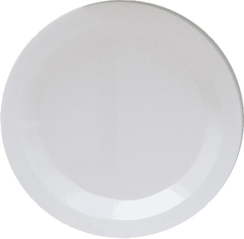 White Round Plastic Dinner Plates - Heavyweight