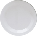 White Round Plastic Dinner Plates - Heavyweight