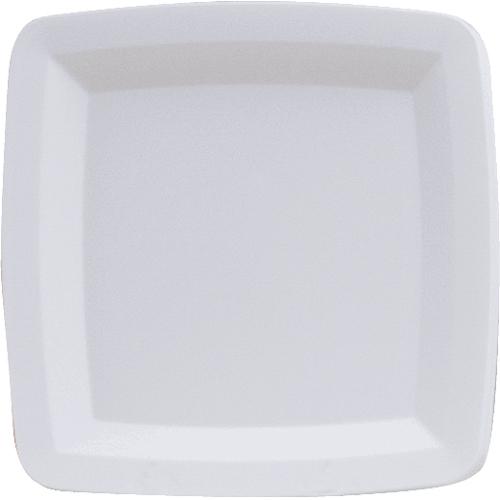 White Square Plastic Dessert Plates