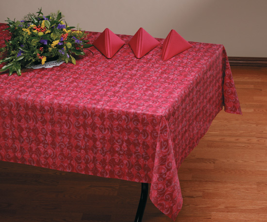 Burgundy Royal Linen Like Banquet Tablecloths - 20 Count