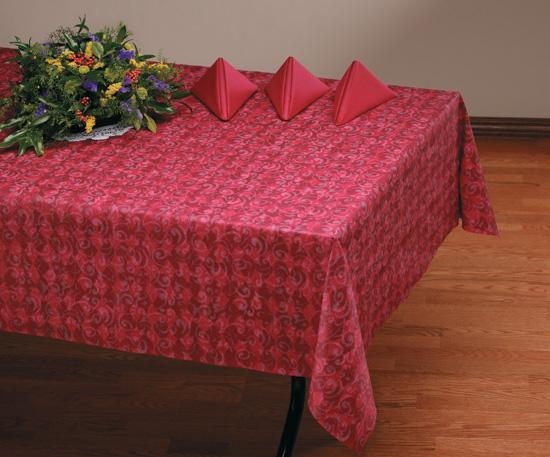 Burgundy Royal Linen Like Banquet Tablecloths - 20 Count