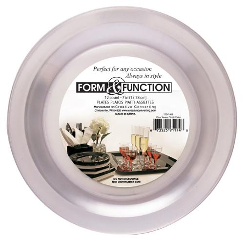 Clear Round Plastic Dessert Plates