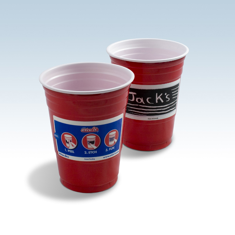Red Etch It Cups - 120 Count