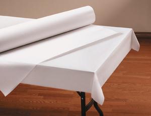 White Linen Like Paper Table Cover Rolls