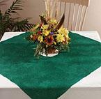 Elegant Impressions Table Accent - Hunter Green Linen Like