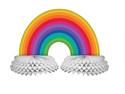 Rainbow Honeycomb Table Centerpieces