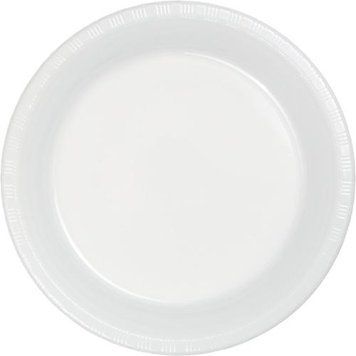 White Plastic Dessert Plates
