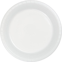 White Plastic Dessert Plates - Bulk
