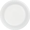 White Plastic Banquet Dinner Plates - Bulk