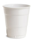 White Plastic Beverage Cups - 12 oz
