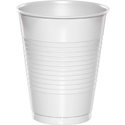 White Plastic Beverage Cups - 16 oz Bulk
