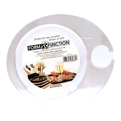 Disposable Plastic Wine Holder Plates – Clear