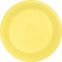 Mimosa Yellow Plastic Dessert Plates