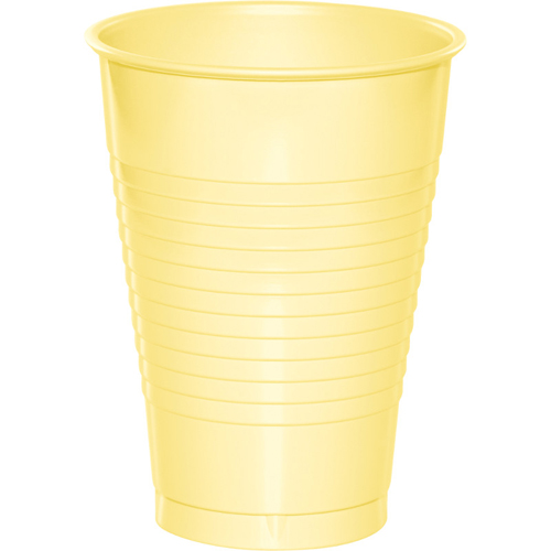 Mimosa Yellow Plastic Beverage Cups - 12 oz