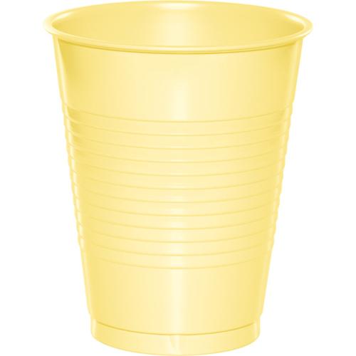 Mimosa Yellow Plastic Beverage Cups - 16 oz