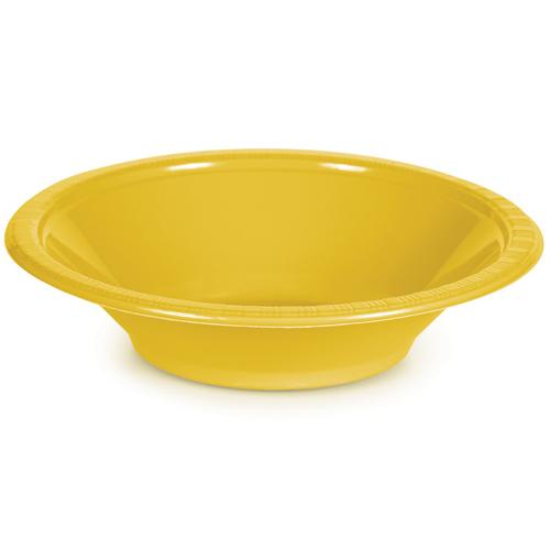 School Bus Yellow Plastic Bowls