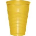 School Bus Yellow Plastic Beverage Cups - 12 oz