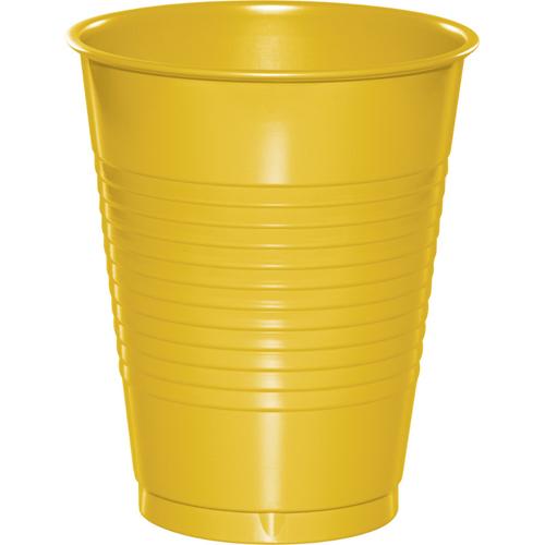 School Bus Yellow Plastic Beverage Cups - 16 oz