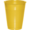 School Bus Yellow Plastic Beverage Cups - 16 oz Bulk