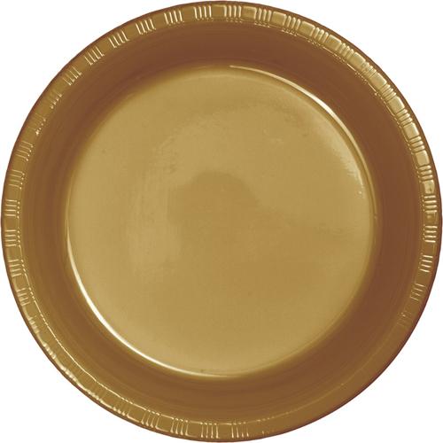 Gold Plastic Luncheon Plates - Bulk