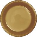 Gold Plastic Dinner Banquet Plates - Bulk