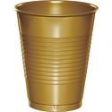Gold Plastic Beverage Cups - 16 oz