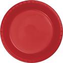 Classic Red Plastic Dessert Plates - Bulk