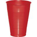 Classic Red Plastic Beverage Cups - 12 oz