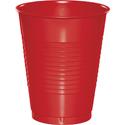 Classic Red Plastic Beverage Cups - 16 oz